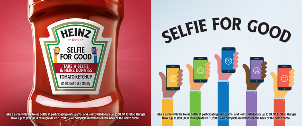 The Heinz Selfie For Good Campaign