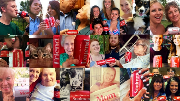 People Pose with their Cokes During the #ShareACoke Marketing Campaign